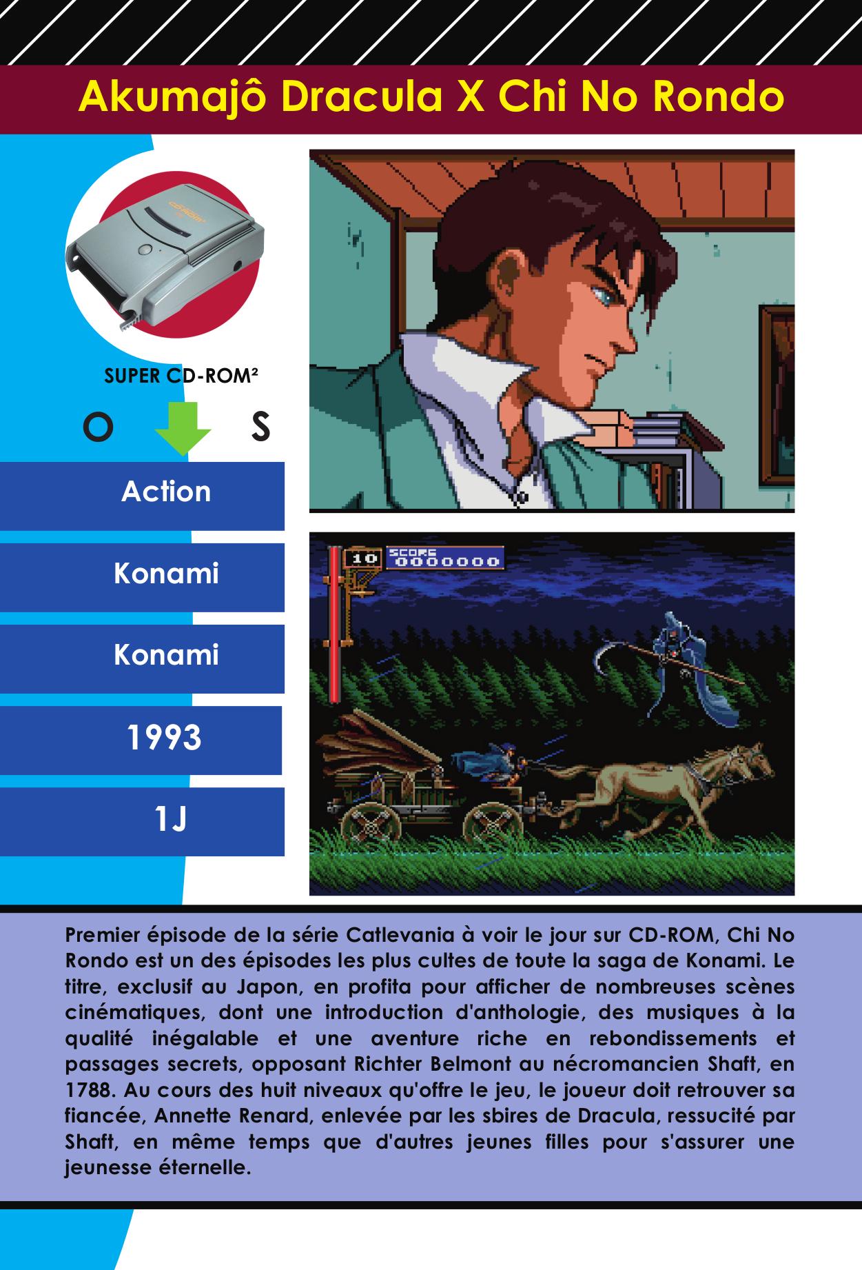 Fiche encyclopédie du jeu vidéo Akumajou Dracul X Chi No Rondo