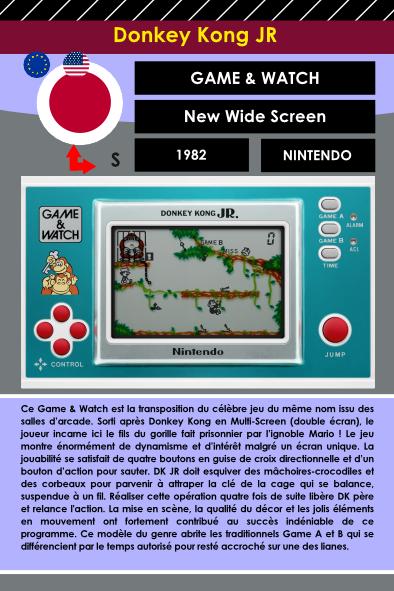 Fiche encyclopédie du Game And Watch Nintendo Donkey Kong Jr
