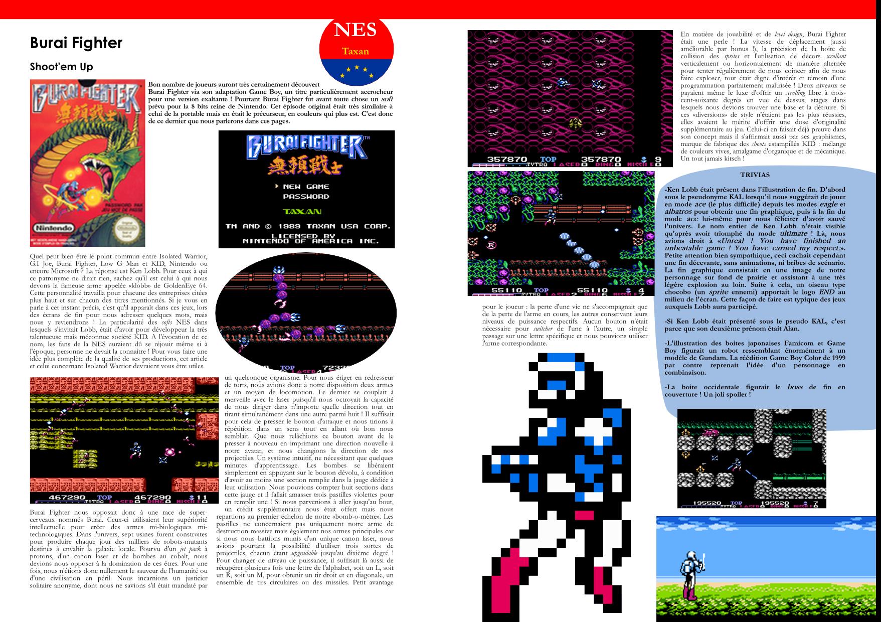 Flashback'90 extrait jeux consoles - Burai Fighter NES