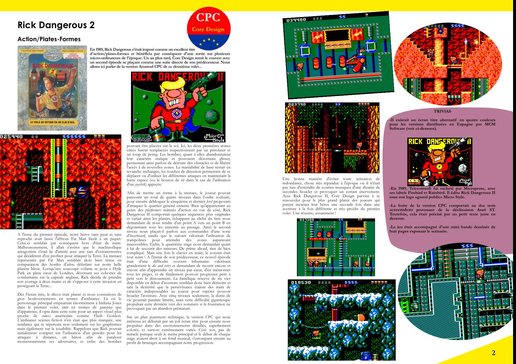 Flashback'90 extrait jeux micro - Rick Dangerous 2 CPC