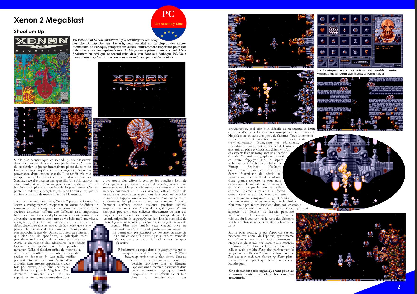 Flashback'90 extrait jeux micro - xenon 2 megablast PC