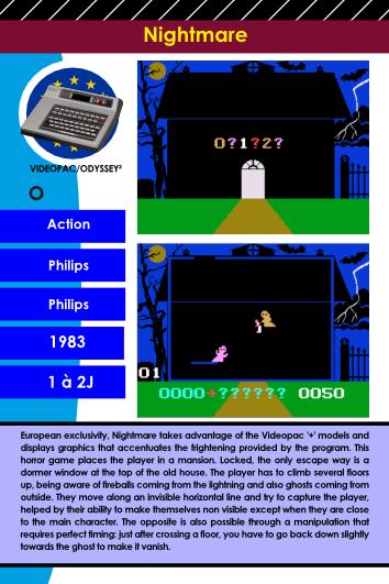 Encyclopédie du jeu viFrozen Fort Videopac-Odyssey 2 encyclopedic files 4déo Videopac Odyssey  2 fiche 4