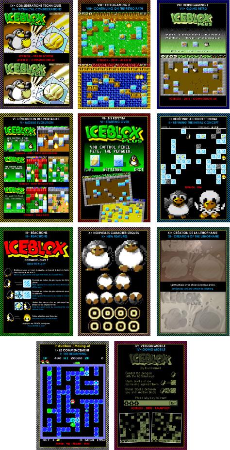 Iceblox Plus Atari ST notice Cartes postales