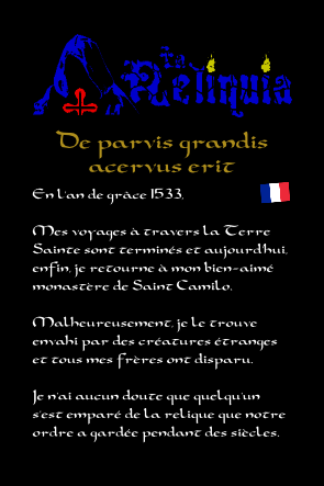 La reliquia manuel notice extrait 1