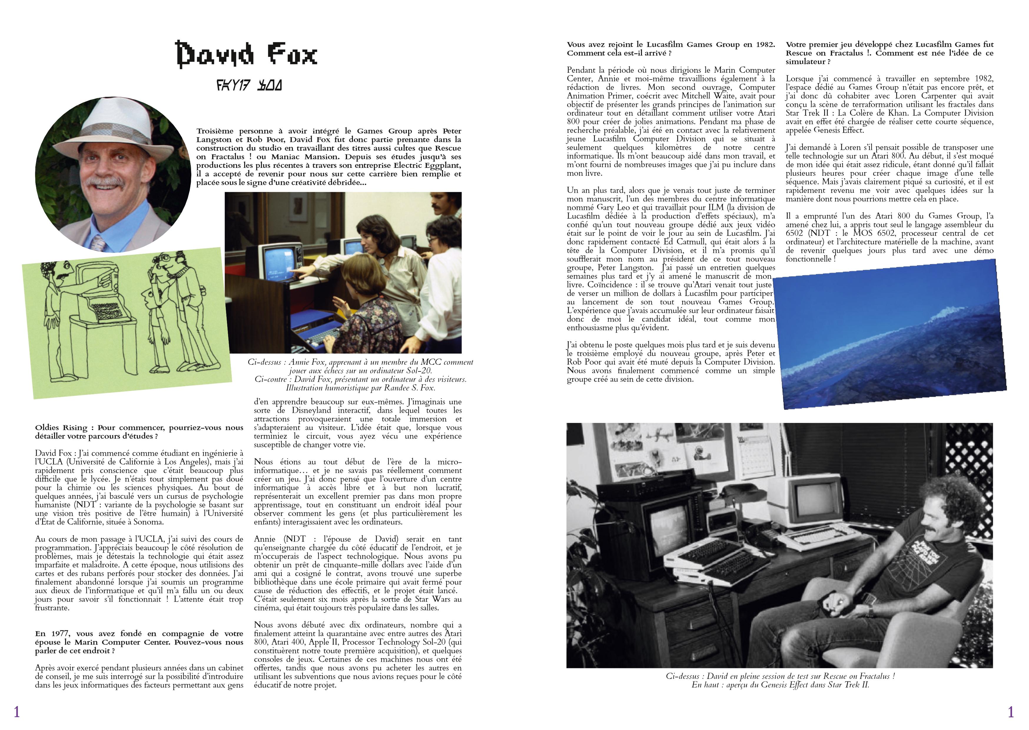 LucasArts les chroniques extrait Interviw David Fox
