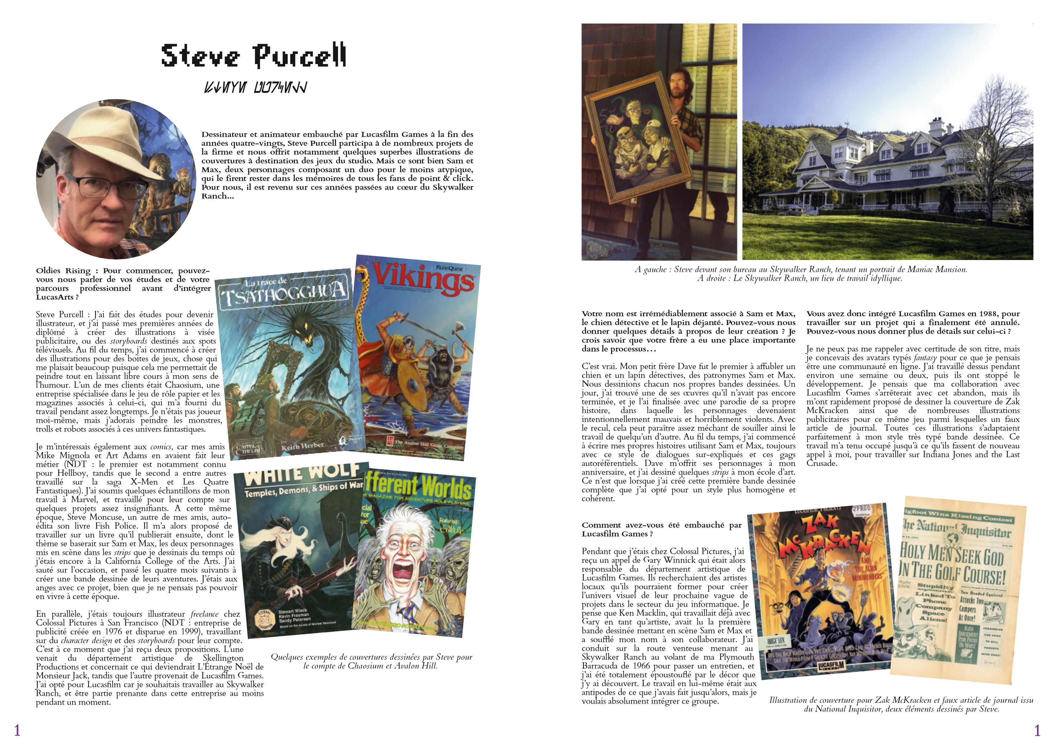 LucasArts les chroniques extrait Interviw Steve Purcell