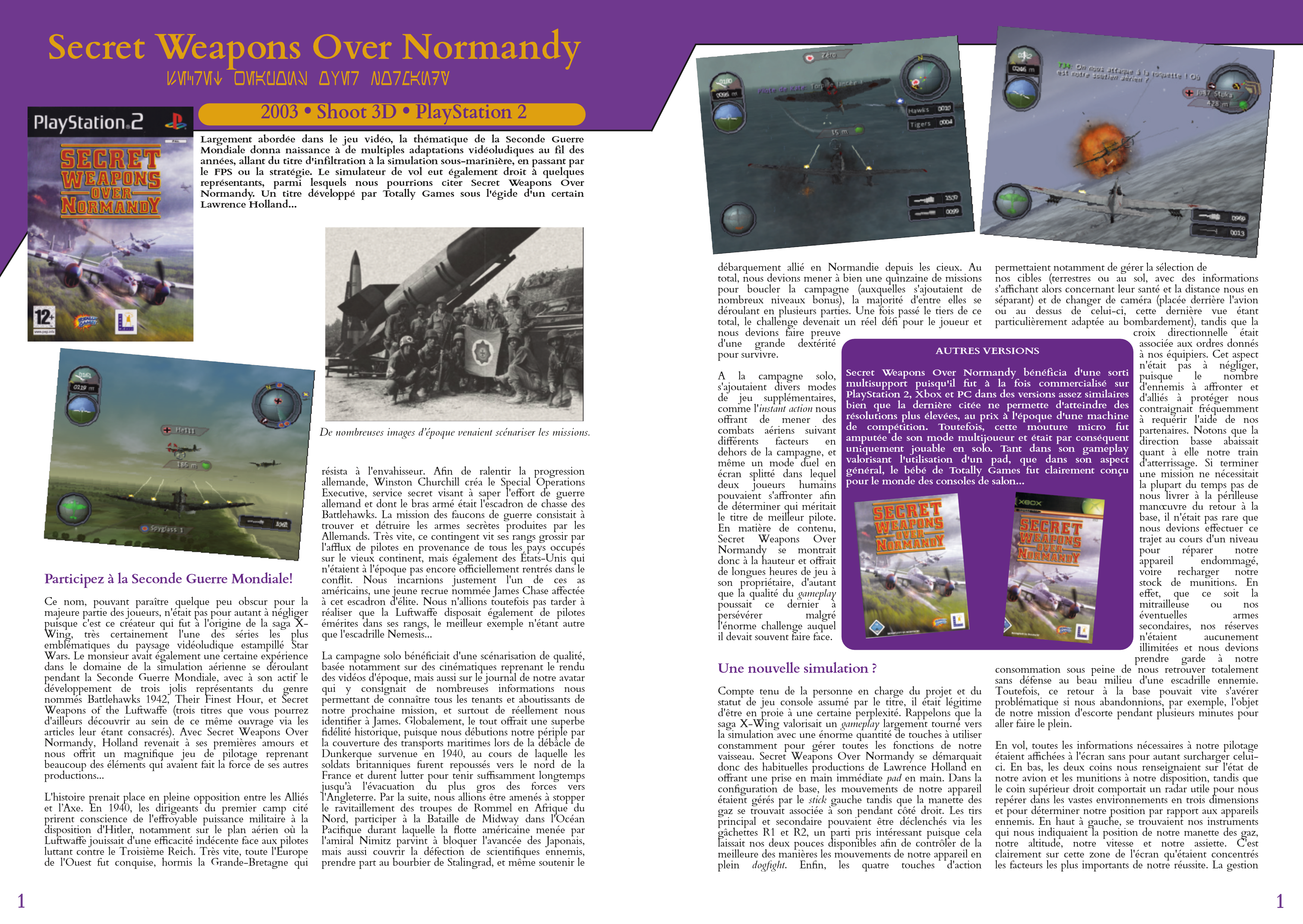 LucasArts les chroniques extrait Secret weapons over normandy