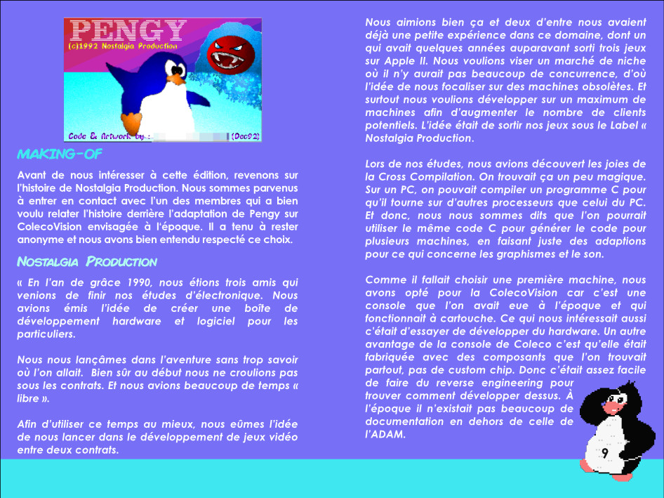 Pengyl ColecoVision notice extrait 1