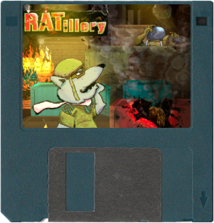 Ratillery for DOS PC Floppy disk