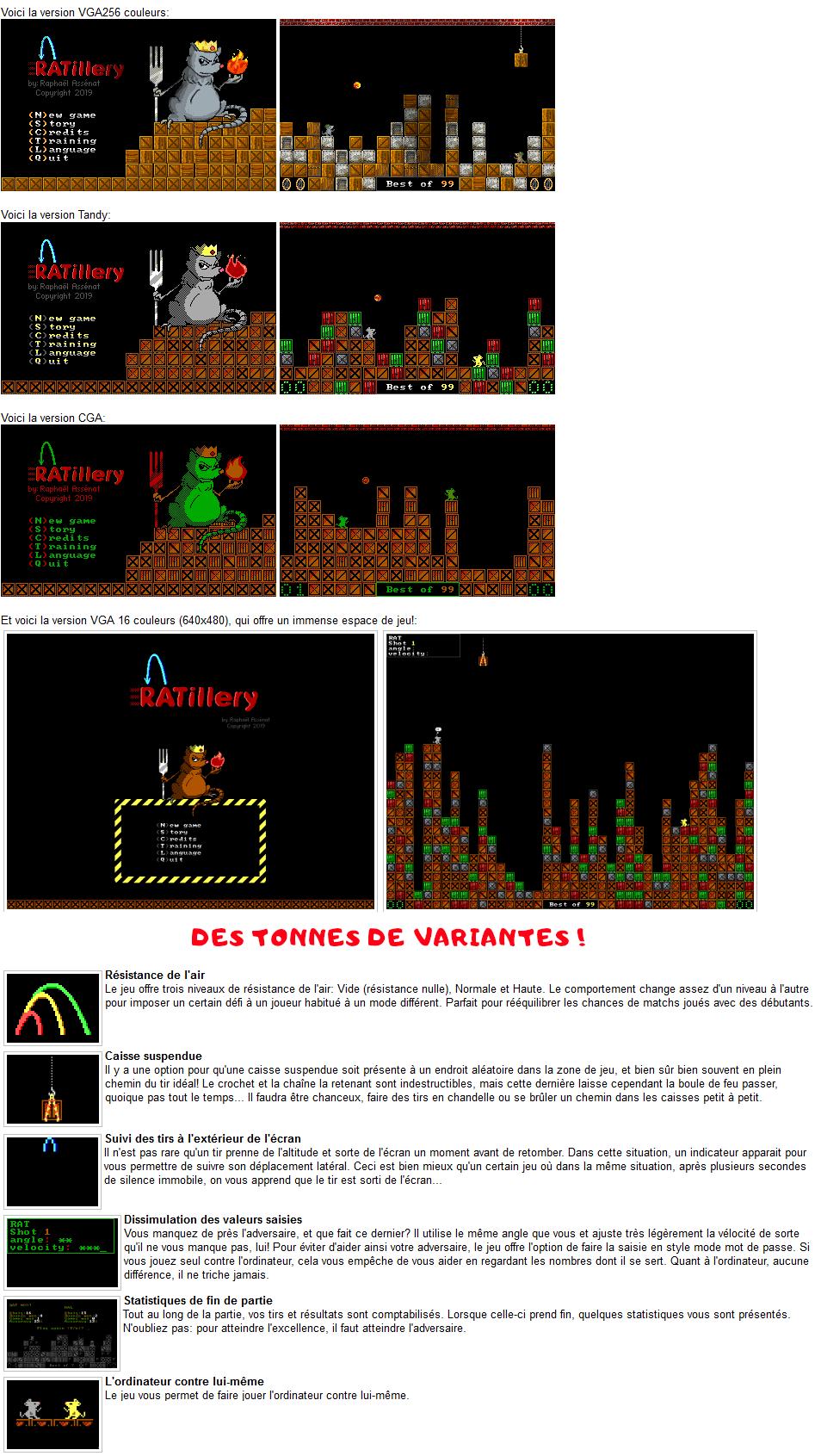 Ratillery DOS présentation du jeu