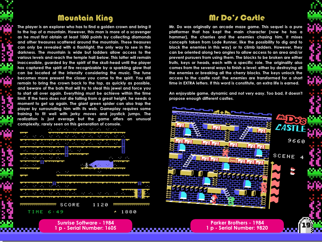 Sir Ababol ColecoVision notice instructions manual sample making of 2