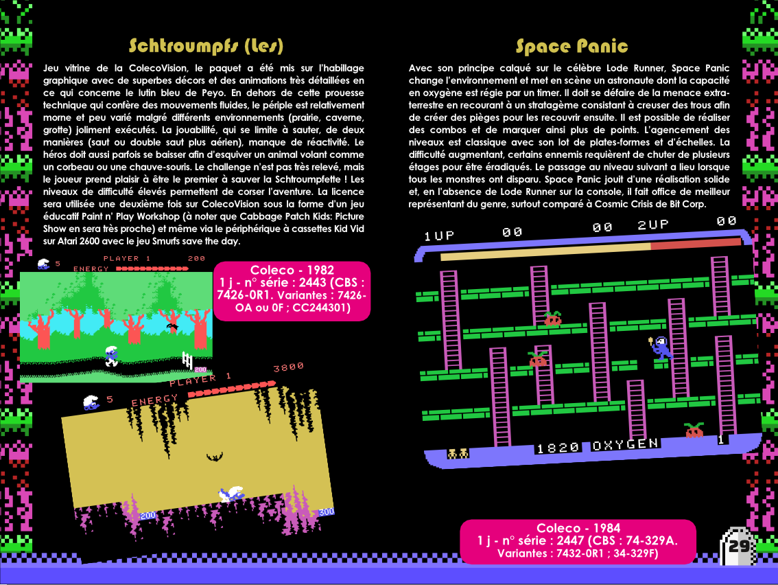 Sir Ababol ColecoVision notice extrait making of 3