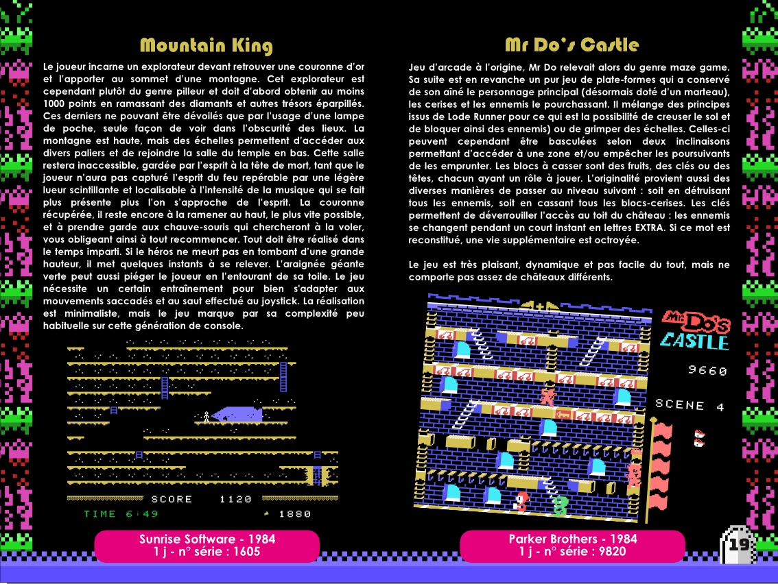 Sir Ababol ColecoVision notice extrait making of 2