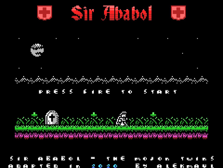 Sir Ababol ColecoVision écran