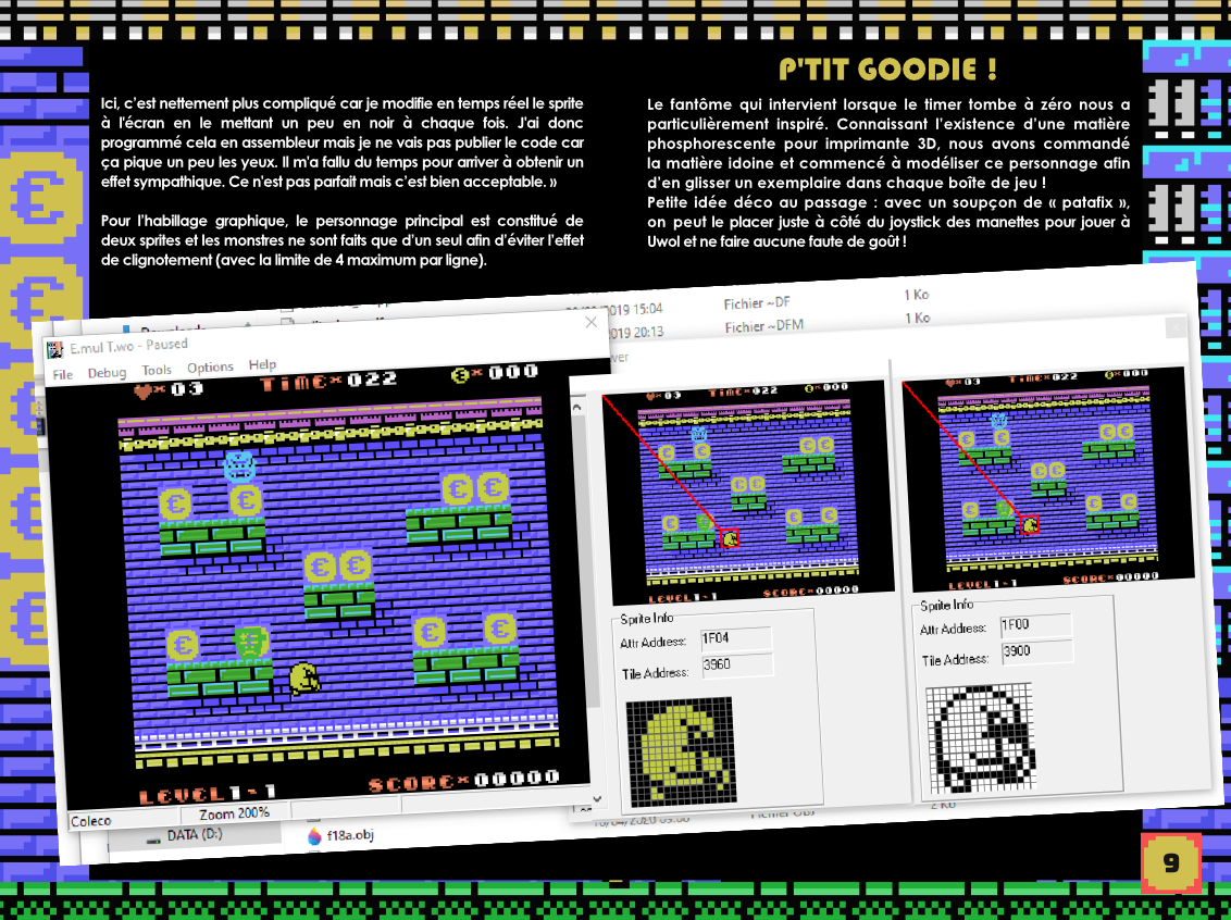 Uwol Quest for money Colecovision notice extrait making of