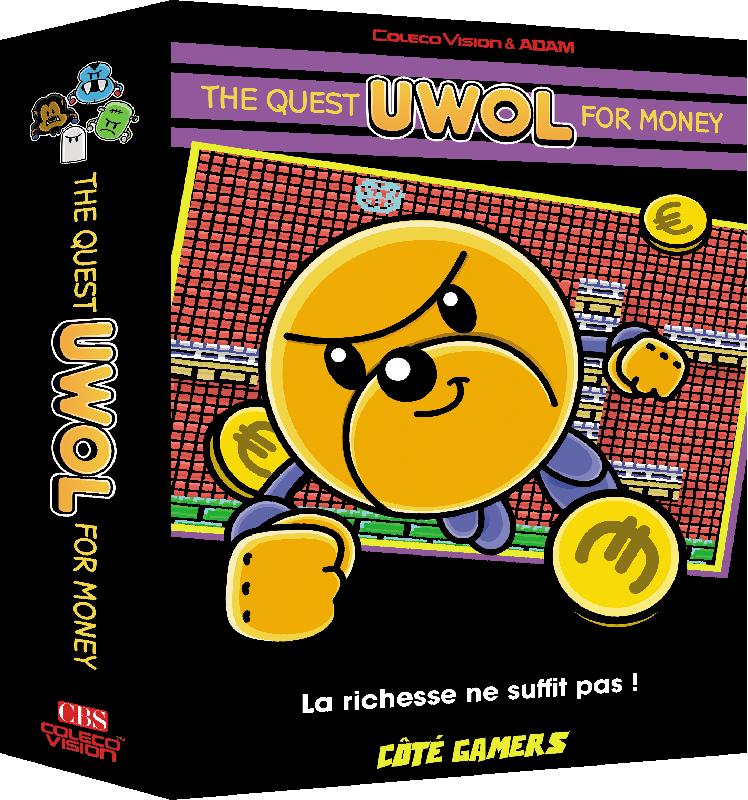 Uwol Quest for money ColecoVision boite, box